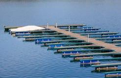 Molo di Woerth del lago Fotografie Stock