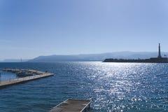 Molo dla łodzi i żaglówek w Messina Zdjęcie Stock