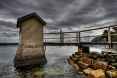 Molo drammatico a Sydney Fotografia Stock