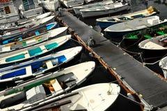 Molo e barche Immagini Stock