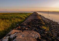 Molo a Fisher State Recreation Area forte fotografie stock libere da diritti