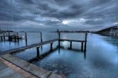 Molo a Forster - vista sul mare Immagini Stock