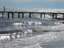 Molo i morze Obrazy Royalty Free