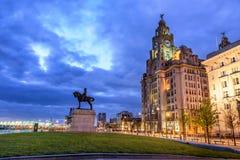 Molo Kierowniczy Liverpool Anglia Zdjęcia Stock