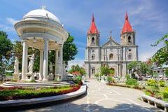 Molo kyrka i den Iloilo staden Panay ö, Filippinerna arkivbilder