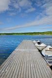 Molo na błękitnym jeziorze Obraz Stock