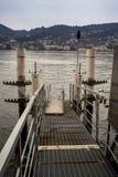 Molo na Como jeziorze Zdjęcia Royalty Free