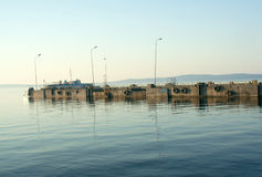 Molo na Jeziornym Onega, Petrozavodsk, Karelia Zdjęcia Royalty Free