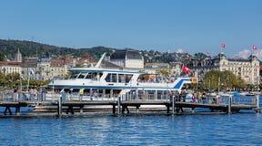 Molo na Jeziornym Zurich Fotografia Stock