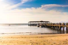 Molo na Miodowej wyspie Zdjęcia Royalty Free