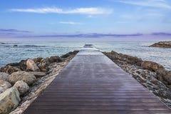 Molo na morzu Fotografia Stock