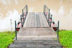 Molo na rzece Zdjęcie Royalty Free
