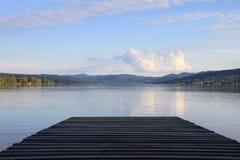 Molo nel lago Fotografie Stock