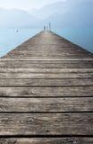 Molo nel lago Attersee Fotografie Stock Libere da Diritti