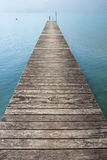 Molo nel lago Attersee Immagine Stock Libera da Diritti