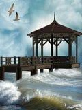 Molo nel litorale Fotografia Stock