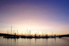 molo opustoszały wschód słońca Zdjęcia Royalty Free