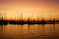 molo opustoszały wschód słońca Zdjęcia Stock