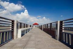 Molo, pawilon, Tajlandzka rzeka Fotografia Royalty Free