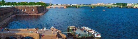 Molo Peter i Paul forteca przy zmierzchem Obraz Stock