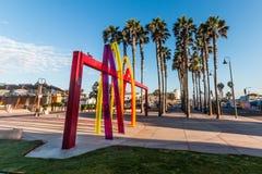 Molo plac przy imperiał plażą, Kalifornia Obraz Royalty Free