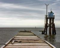 Molo przy Dauphin wyspy AL fotografia royalty free