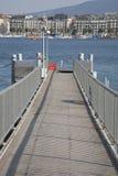 Molo przy Jeziorny Genewa Zdjęcia Royalty Free