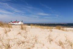 Molo przy morzem, Ahlbeck w Niemcy/ Obrazy Stock
