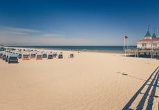Molo przy plażą w morzu bałtyckim, Ahlbeck w Niemcy/ Obrazy Royalty Free