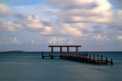 Molo przy playa del carmen Zdjęcia Royalty Free