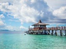 Molo przy Sipadan wyspą, Sabah, Malezja Fotografia Royalty Free