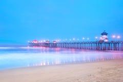 Molo przy wschód słońca Fotografia Royalty Free