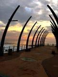 Molo przy wschodem słońca Zdjęcia Royalty Free