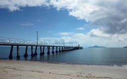 Molo Queensland del nord Australia di Cardwell immagini stock