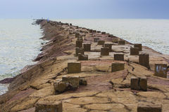 Molo roccioso Immagini Stock