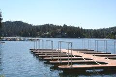 Molo, sagittaria del lago Fotografie Stock Libere da Diritti