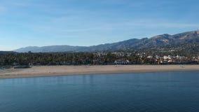 Molo Santa Barbara California di Stearns stock footage