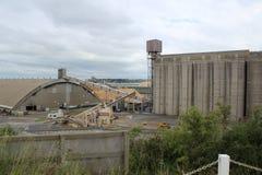 Molo in serie Victoria di Portland del deposito di grano Fotografia Stock Libera da Diritti