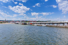 Molo Sopot на Балтийском море, Польше Стоковое Фото