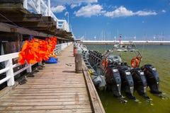 Molo Sopot на Балтийском море, Польше Стоковые Фотографии RF