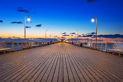 Molo in Sopot at Baltic sea. Molo (pier) in Sopot at Baltic sea, Poland Stock Photography