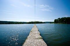 Molo sopra il lago Fotografia Stock