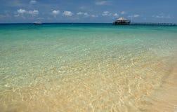 Molo sull'isola di Tioman, Malesia immagine stock