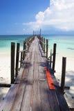 Molo tropicale nel paradiso. Fotografia Stock Libera da Diritti