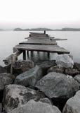 Molo in un lago mountain Fotografia Stock Libera da Diritti