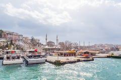 Molo Uskudar w Uskudar, Istanbuł, Turcja fotografia royalty free