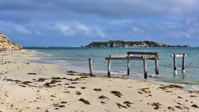 Molo vecchio alla baia di Hamelin, Australia occidentale Fotografia Stock