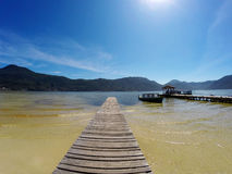 Molo w Lagoa da Conceição w Florianà ³ polisa Santa Catarina, Brazylia - Zdjęcie Stock