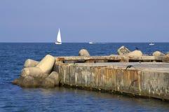 Molo w lata morzu Obraz Royalty Free