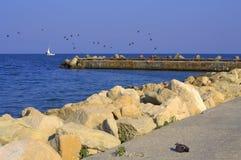 Molo w lata morzu Zdjęcie Royalty Free